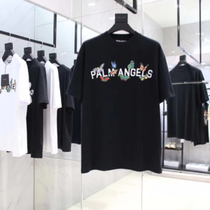 PALM ANGELS BUTTERFLY COLLEGE TEE - PA16