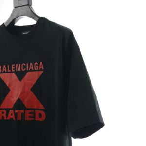 BALENCIAGA CHEST RED X PRINTEED T SHIRT