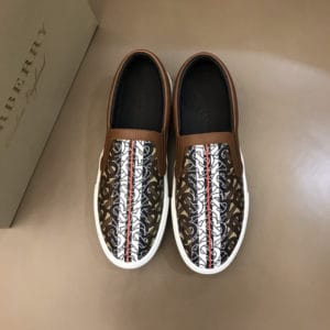 BURBERRY LEATHER VINGATE SNEAKER- BBR81