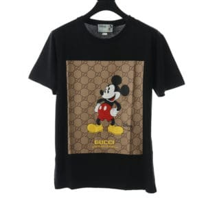 GUCCI X MICKEY PRINTED BLACK T SHIRT