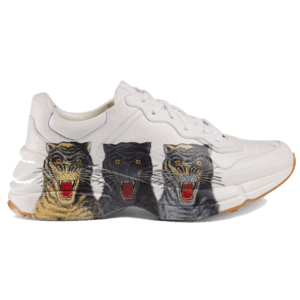GUCCI RHYTON LEATHER SNEAKER WITH TIGERS