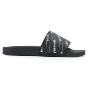 BALENCIAGA RUBBER LOGO POOL SLIDE SANDALS - BBS6