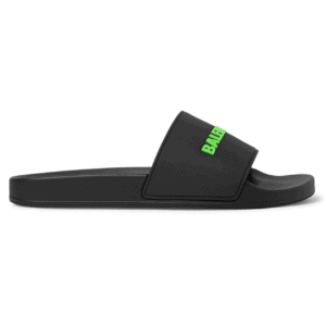 BALENCIAGA RUBBER LOGO POOL SLIDE SANDALS - BBS3