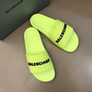BALENCIAGA RUBBER LOGO POOL SLIDE SANDALS - BBS2