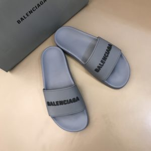 BALENCIAGA RUBBER LOGO POOL SLIDE SANDALS - BBS8