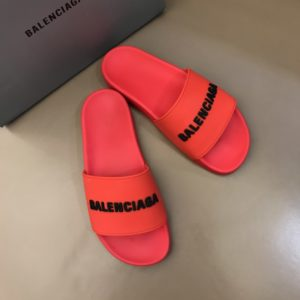 BALENCIAGA RUBBER LOGO POOL SLIDE SANDALS - BBS4