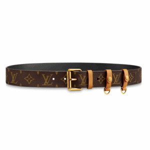 LOUIS VUITTON SIGNATURE BELT MONOGRAM 35MM BROWN - B112