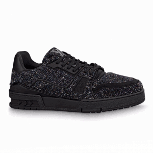 LOUIS VUITTON GLITTER SNEAEKERS BLACK TRAINER - LV223