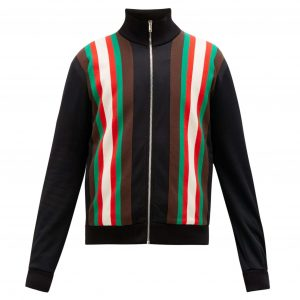 GUCCI WEB-STRIPE TECHNICAL-BLEND FLEECE TRACK JACKET - GC13