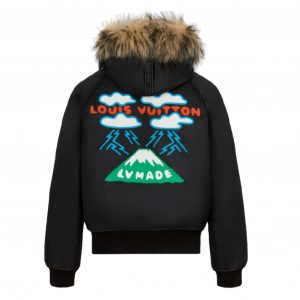 LOUIS VUITTON EMBROIDERED LV MOUNTAIN AVIATOR BLOUSON IN BLACK - LV24