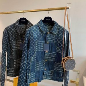 LOUIS VUITTON GIANT DAMIER WAVES MONOGRAM DENIM JACKET - LV9