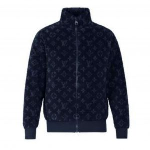 LOUIS VUITTON MONOGRAM JACQUARD FLEECE ZIP-THROUGH JACKET - LV20