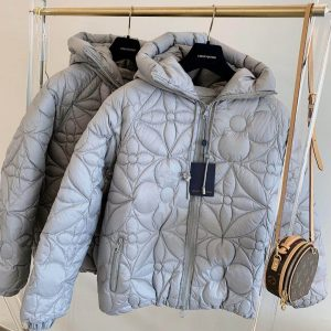 LOUIS VUITTON REVERSIBLE MONOGRAM PUFFER JACKET IN GREY - LV25