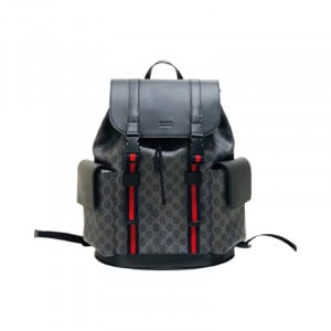 GUCCI CANVAS GG BACKPACK IN BLACK FOR MEN – GBC28