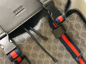 GUCCI CANVAS GG BACKPACK IN BLACK FOR MEN - GBC28