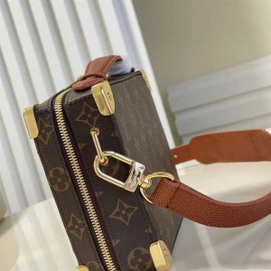 LOUIS VUITTON X NBA HANDLE TRUNK MONOGRAM COATED CANVAS TEXTILE LINING IN BROWN M45785