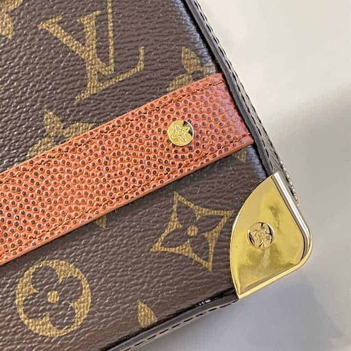 M45785 Louis Vuitton X Nba Handle Trunk Monogram Coated Canvas Textile Lining In Brown