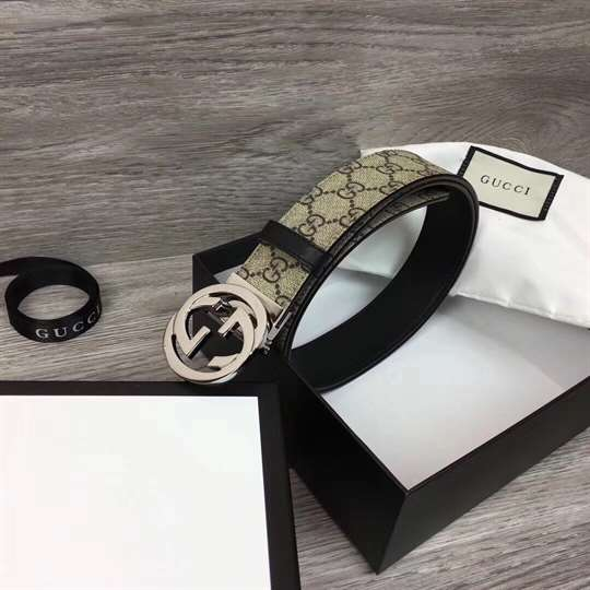 GUCCI GG SUPREME BELT WITH G BUCKLE - B37