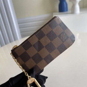 M62650 Louis Vuitton Key Pouch Damier Ebene Coated Canvas In Brown - RRG055