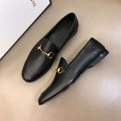GUCCI BRIXTON HORSEBIT-DETAILED LEATHER COLLAPSIBLE-HEEL LOAFERS - LDG013