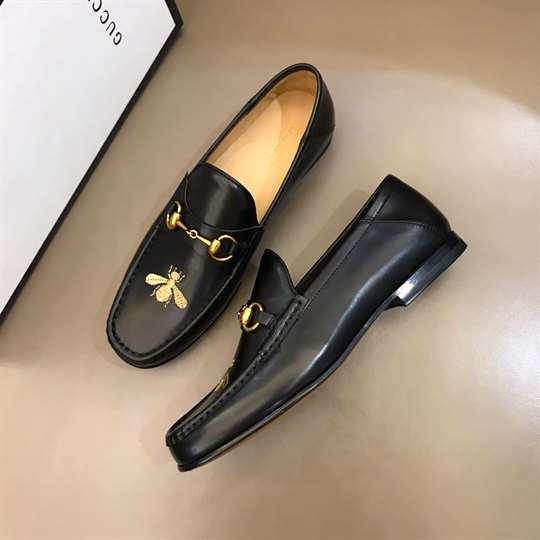 GUCCI LEATHER LOAFER WITH BEE - LDG009